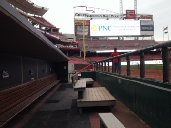 Away team dugout, Great American Ballpark