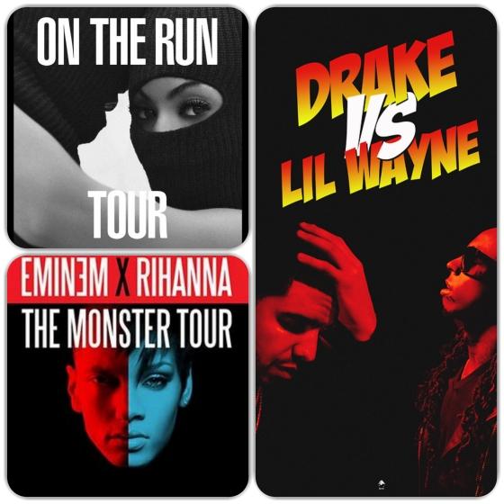 hip hop tour posters lil wayne, jay z, eminem