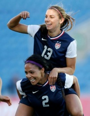 Alex Morgan and Sydney Leroux