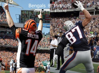 Photo credit: Bengals and Patriots Official Facebook pages