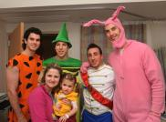 Boston Bruins Zdeno Chara, Jordan Caron, Adam McQuaid and Brad Marchand at Children's Hospital