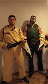 NC as Ghostbuster and McGary as Bane
