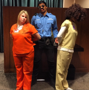 Russell Wilson as Officer Cortez from Orange is the New Black