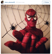 Dion Phaneuf as Spiderman