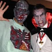 Ferdinand & RVP as Frankenstein and Dracula