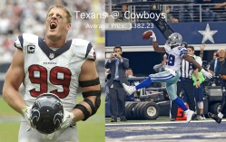 Photo credit: Texans and Cowboys Official Facebook pages
