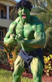"Dwayne ""The Rock"" Johnson as The Hulk"